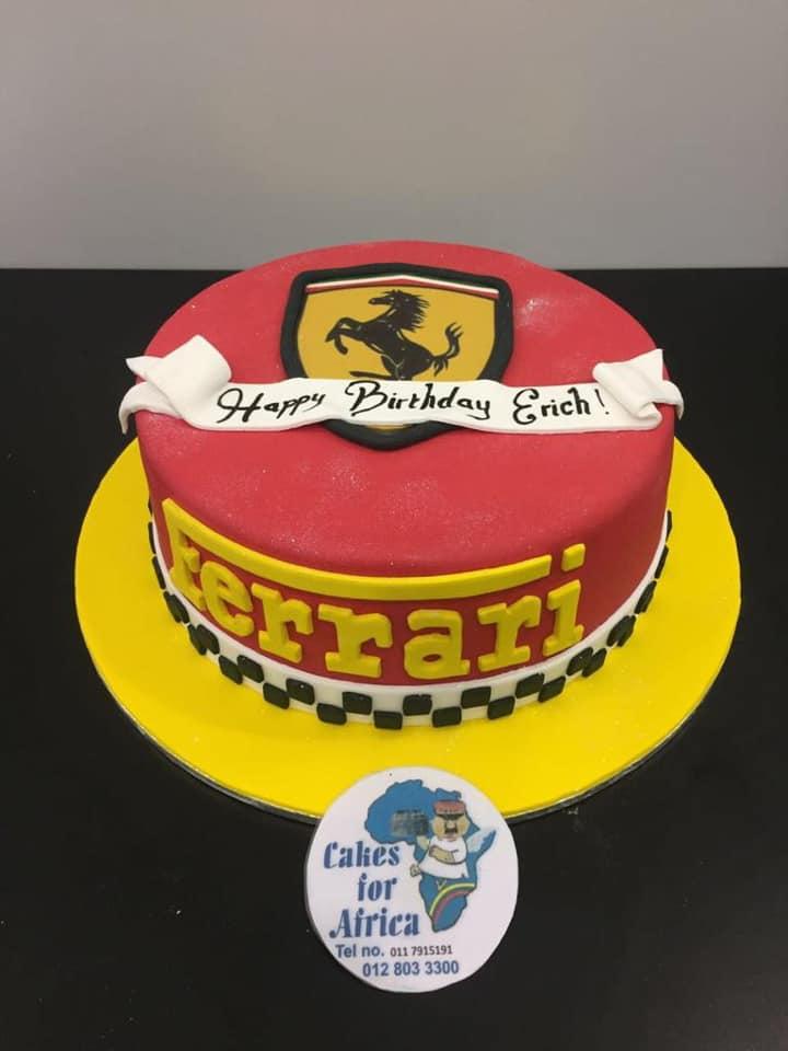 Peachy Bdc212N Ferrari Cakes For Africa Funny Birthday Cards Online Aboleapandamsfinfo